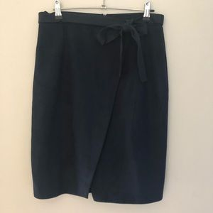 River Island navy skirt (faux suede) Size 12